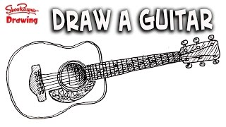 How to draw a Guitar easy step by step for beginners