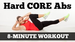 hard core abs full length 8 minute abs workout for all levels