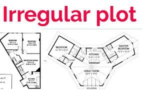 How to calculate land area | Land Area | Plot Area Measurements |Irregular shape Area | House area