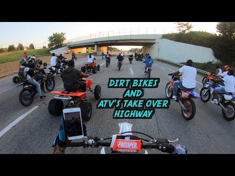 DIRT BIKES AND ATV'S TAKE OVER CLEVELAND OHIO !