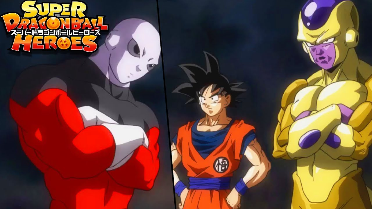 jiren vs golden frieza and goku janembas new form and gogeta super