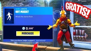 FREE FORTNITE DANSJE FOR EVERYONE!! HOT MARAT EMOTE from Fortnite!