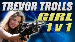Trevor Trolls Girl & Boy Quickscoper 1v1 - MW2 Griefing