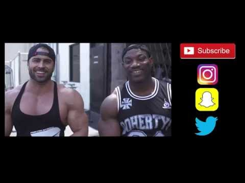 Jason Poston chest workout with Dexter Jackson