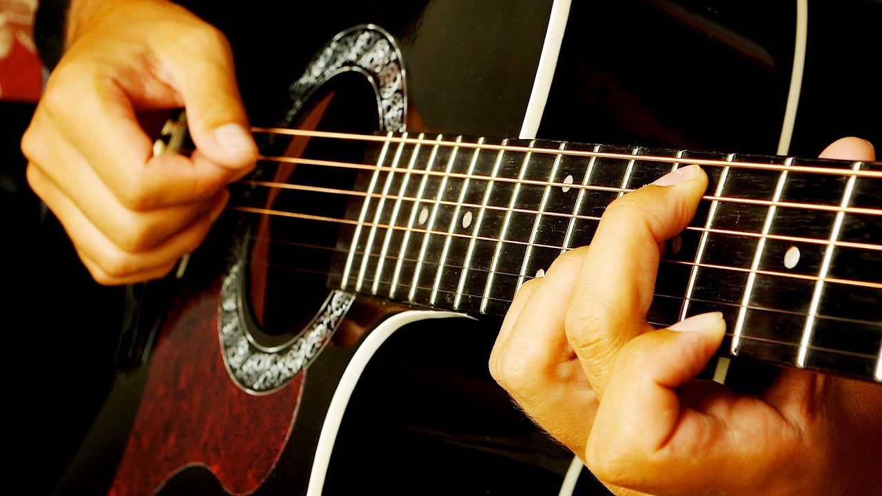 How To Fingerpick Guitar Chords Fingerstyle Guitar Youtube