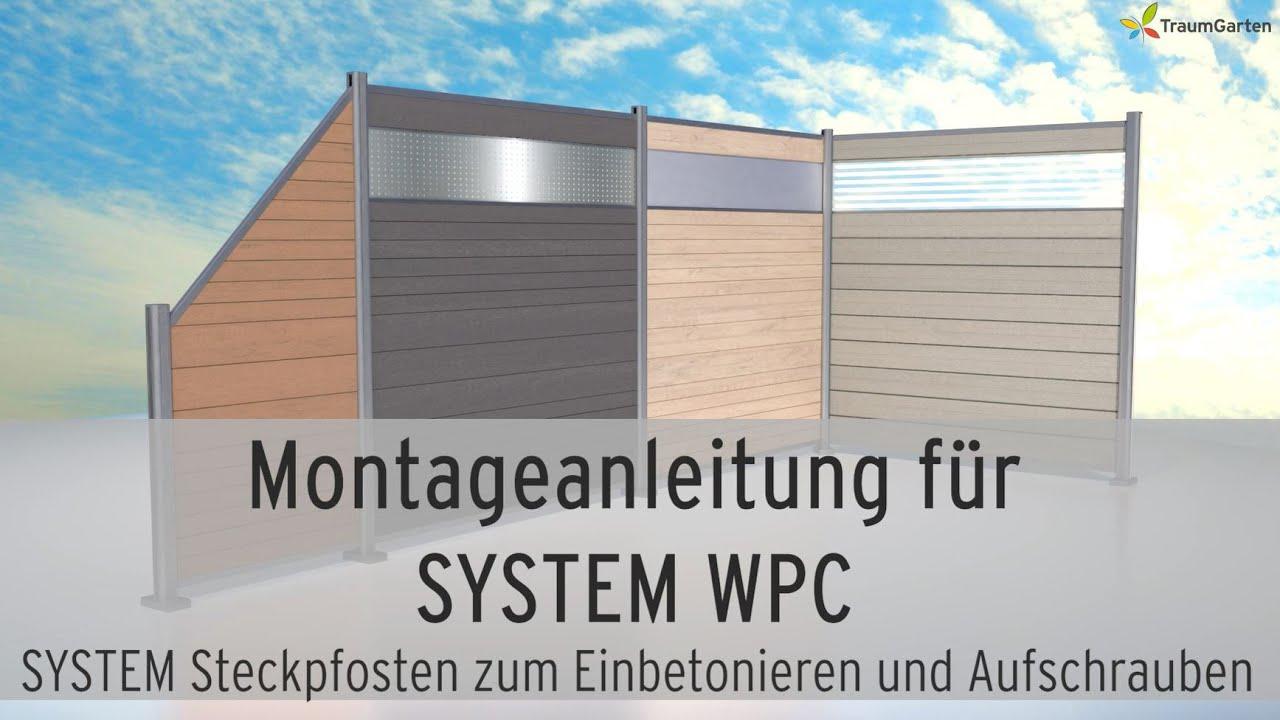 Wpc Sichtschutz Montieren System Wpc Von Traumgarten Steckzaun