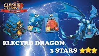electro dragon hog rider attack th12 3 star clash of clans strategy