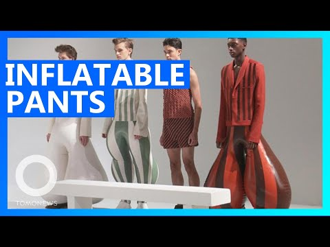 Inflatable Latex Pants Could Become A Thing - TomoNews