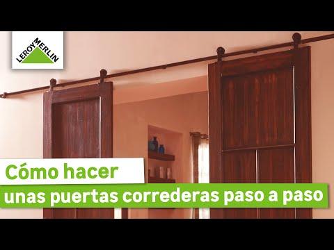 C mo hacer unas puertas correderas leroy merlin youtube - Como hacer una mampara ...