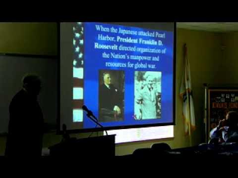 Tommy Tart Talks to Madison Florida Kiwanis About Capt. Colin P. Kelly, Jr.