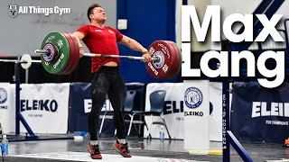 Max Lang Snatches, Snatch Pulls, Back Squats First Training 2015 World Weightlifting Championships