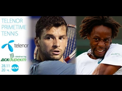 Grigor Dimitrov vs. Gael Monfils 6-3, 6-4 Telenor Prime Time Tennis Sofia 28.11.2015.