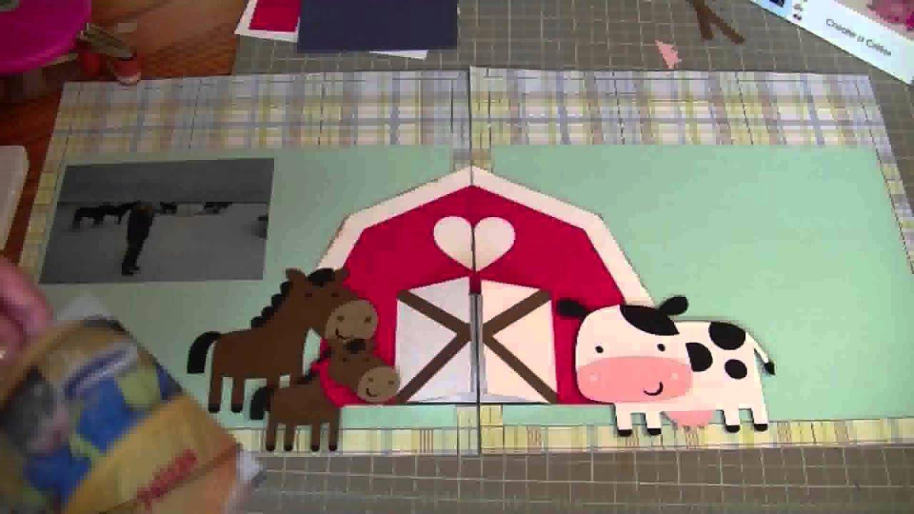Scrapbook ideas using cricut - Cricut Layouts Farm Layout Using Create A Critter Cartridge