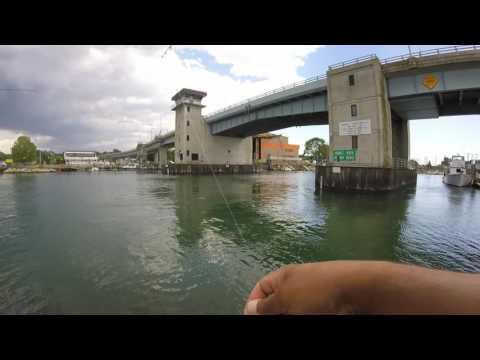 Fishing Niantic River Drawbridge, CT