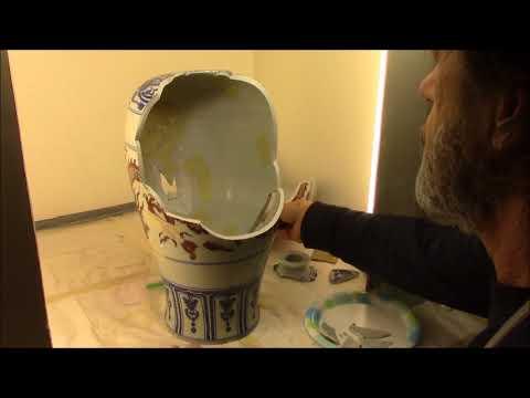 Chinese Porcelain Dragon Vase Repair