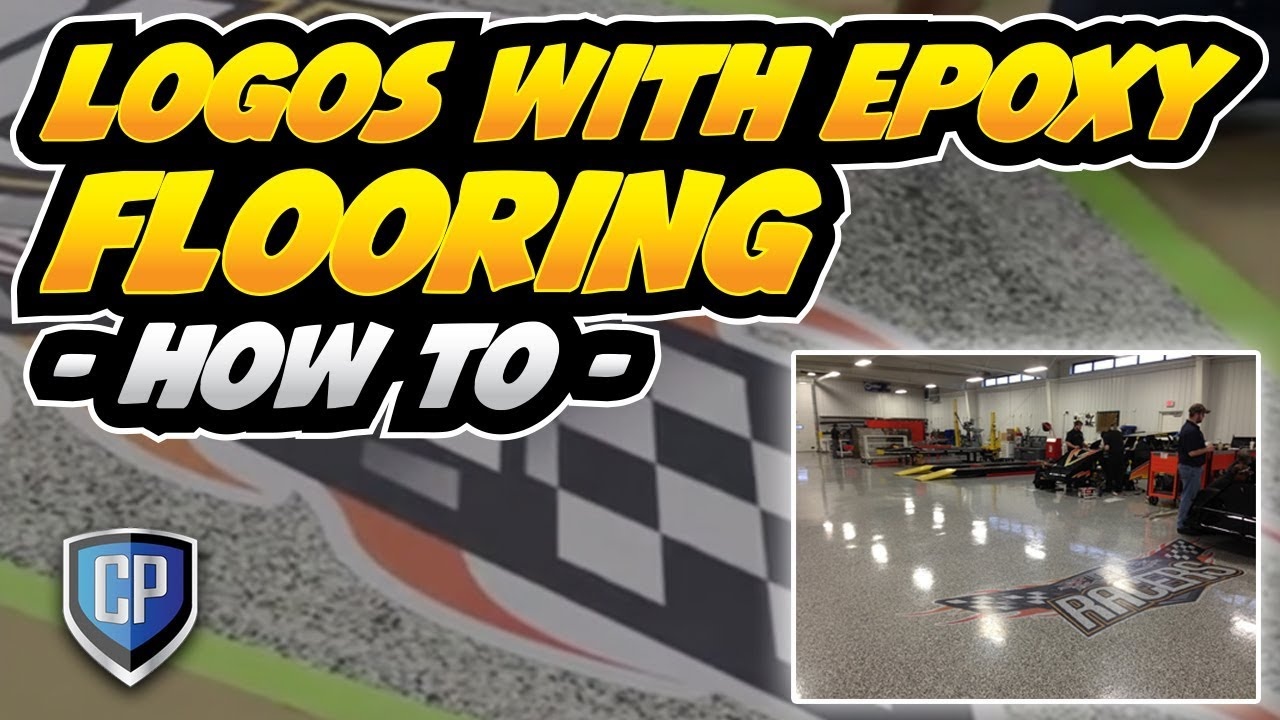 Logos With Epoxy Flooring How To Youtube