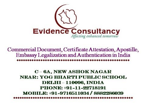 Certificate Apostille, Attestation Services in India, Delhi, Mumbai, Chennai, Kolkata