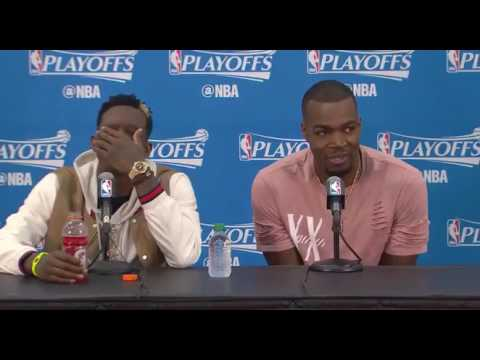 Dennis Schroder Reaction To Paul Millsap Being Called A Crybaby By Morris Markieff