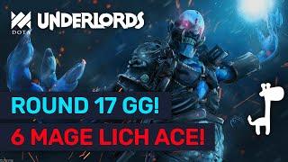 ROUND 17 LICH = GG! BEST Hobgen High Rank Mage Builds! | Dota Underlords