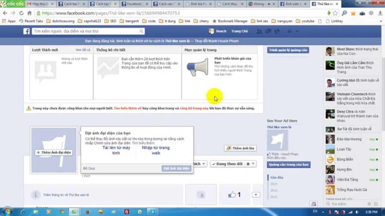 Cách thay đổi ảnh bìa facebook