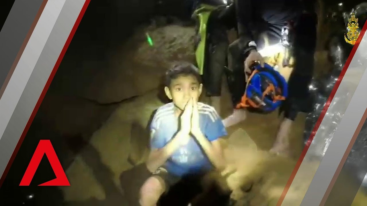 Thai cave rescue: Boys in 'good health' in new navy video