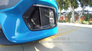 Carbon Fiber Fog Light Bezels for the Ford Focus RS