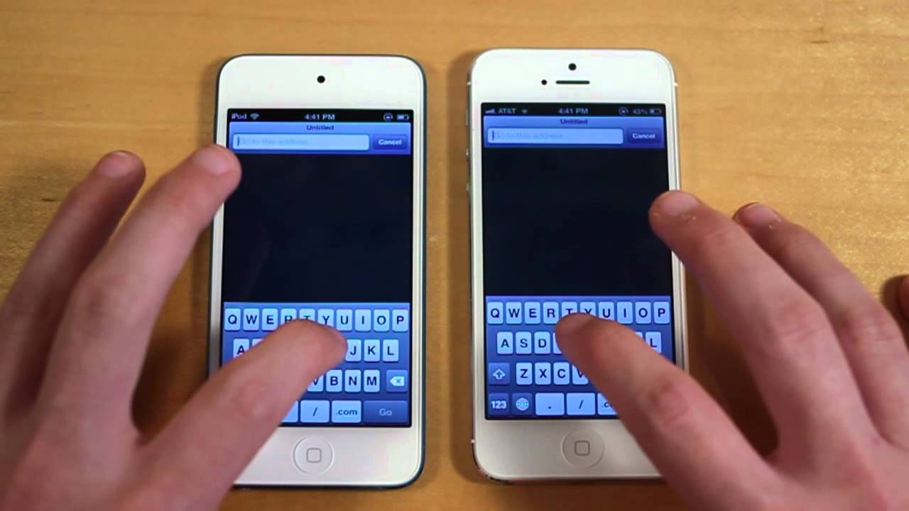 IPod Touch 5G Vs IPhone 5 Speed Test