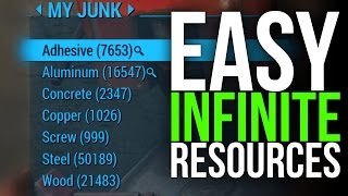 Fallout 4 Infinite Resources - Unlimited Junk Shipments! (Infinite Screws, Steel, Adhesive, etc...)
