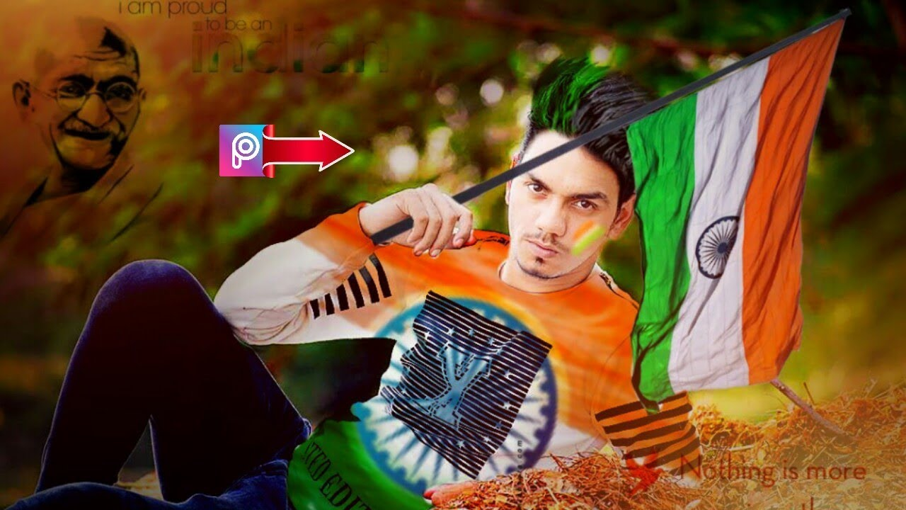 Independence Day Editing In PicsArt Tutorial Hairstyle Change - Hair style change photo effect