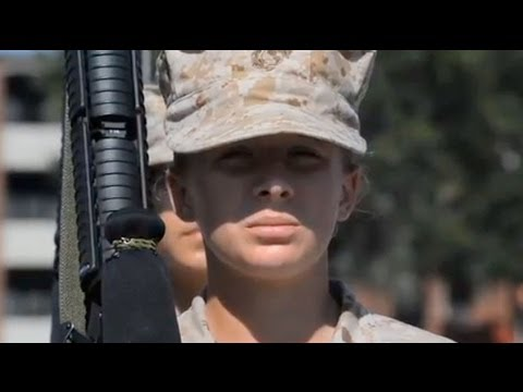 female us marines prepare for front line role youtube