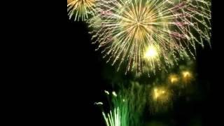 2011/10/1 多摩川花火大会の画像に青木さんの花火のものまねの音をを合...