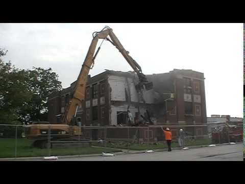 Pleasant Plains High School 1927 Building Demolition 07-03-15