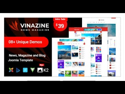 Vinazine - Joomla News Magazine Template   Themeforest Templates