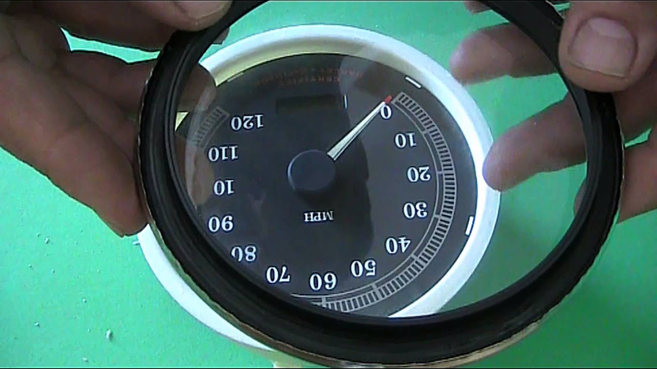 hight resolution of how to open harley davidson speedometer dial face change