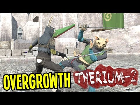 NINJA BUNNY vs EVIL KITTY CATS!! - Overgrowth Gameplay (Therium-2 Mod) Episode 1