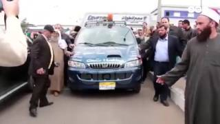 رصد | وصول جثمان الشيخ عمر عبد الرحمن إلى مسقط رأسه بالدقهلية