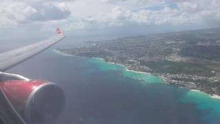 Virgin Atlantic A330-300 (G-VRAY) Landing TBPB Barbados | Stunning approach