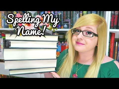 Spelling My Name With Books!