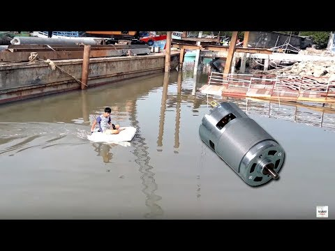 Thử chế thuyền xốp gắn Motor 775 có chở được người
