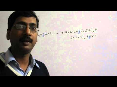 Balancing of Equation by Oxidation Number in Redox Reaction in Chemistry For IIT/Medical