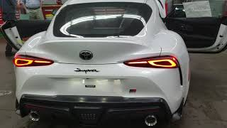 2020 Toyota Supra White with red interior!