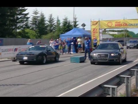 Audi A6 C6 3.0TDI vs '88 Pontiac Firebird T/A GTA 1/8mile drag race