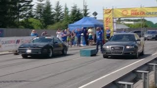 Audi A6 C6 3.0TDI vs '88 Pontiac Firebird T/A GTA 1/8mile drag race