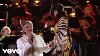 andrea bocelli laura pausini   dare to live hd ft laura pausini