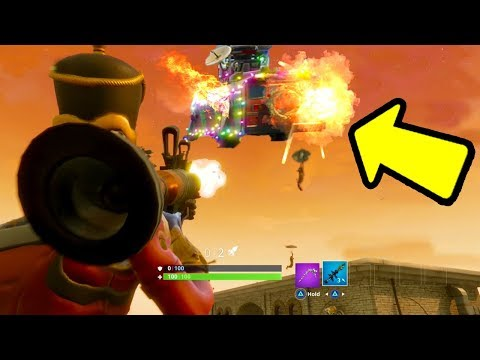 FORTNITE: SHOOT DOWN the BATTLE BUS! Easter Egg (11 KILLS with 1 ROCKET)