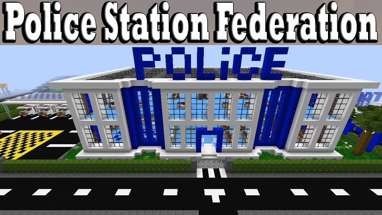 Minecraft How To Build A Police Station Tutorial