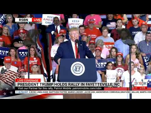 Pres. Trump Delivers Speech At Fayetteville 'KAG' Rally