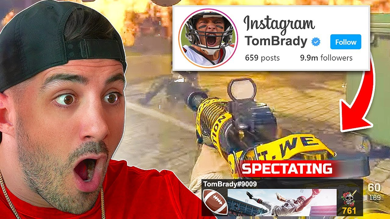 I SPECTATED WARZONE AND WATCHED TOM BRADY?! 😯