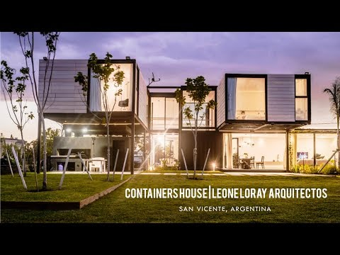 Container House by Leone Loray Arquitectos in San Vicente