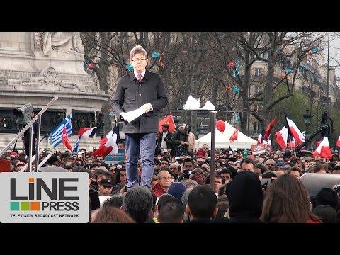 Jean-Luc Mélenchon en route pour la VIe République / Paris - France 18 mars 2017